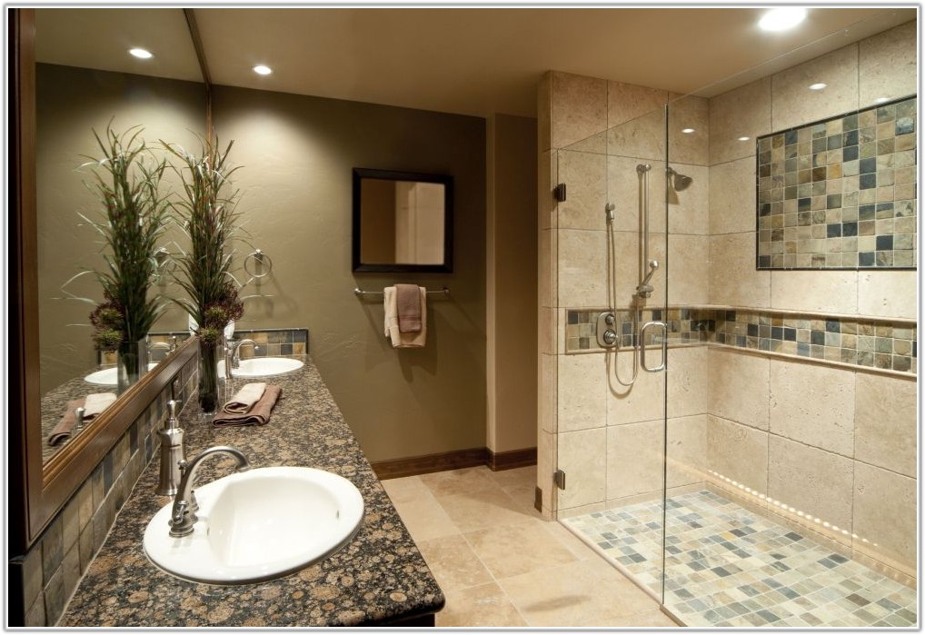 Glass Tile Bathroom Wall Ideas