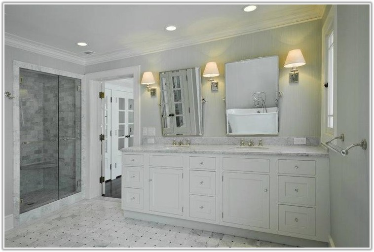 Gray And White Marble Floor Tile