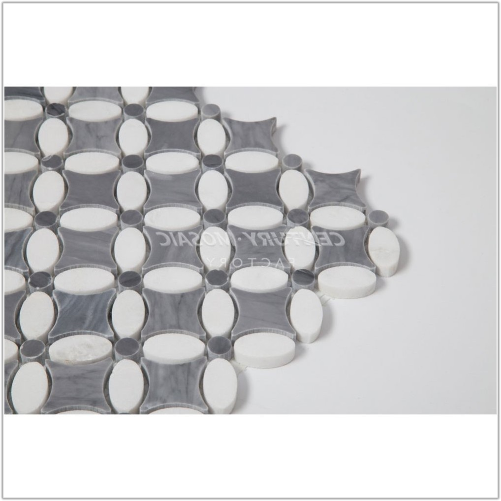 Gray And White Marble Mosaic Tile