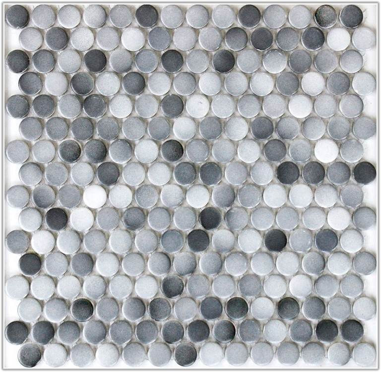 Gray Mosaic Floor Tile Bathroom