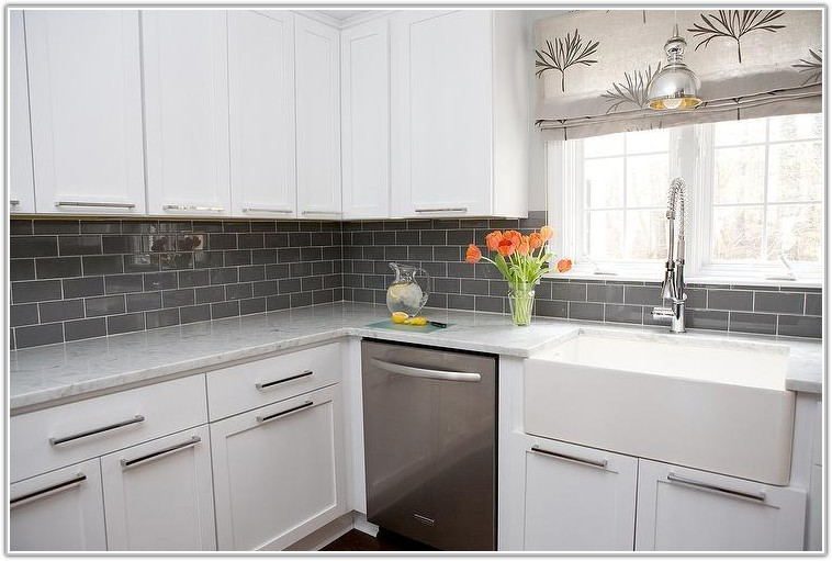 Gray Subway Tile Backsplash Ideas