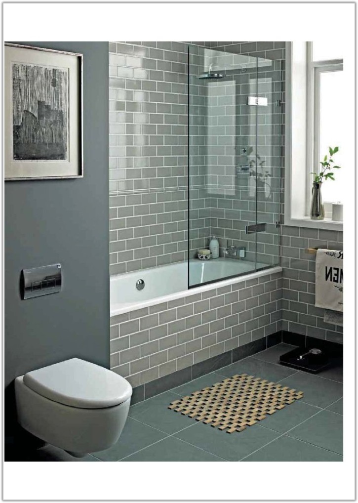 Gray Wood Look Tile Bathroom