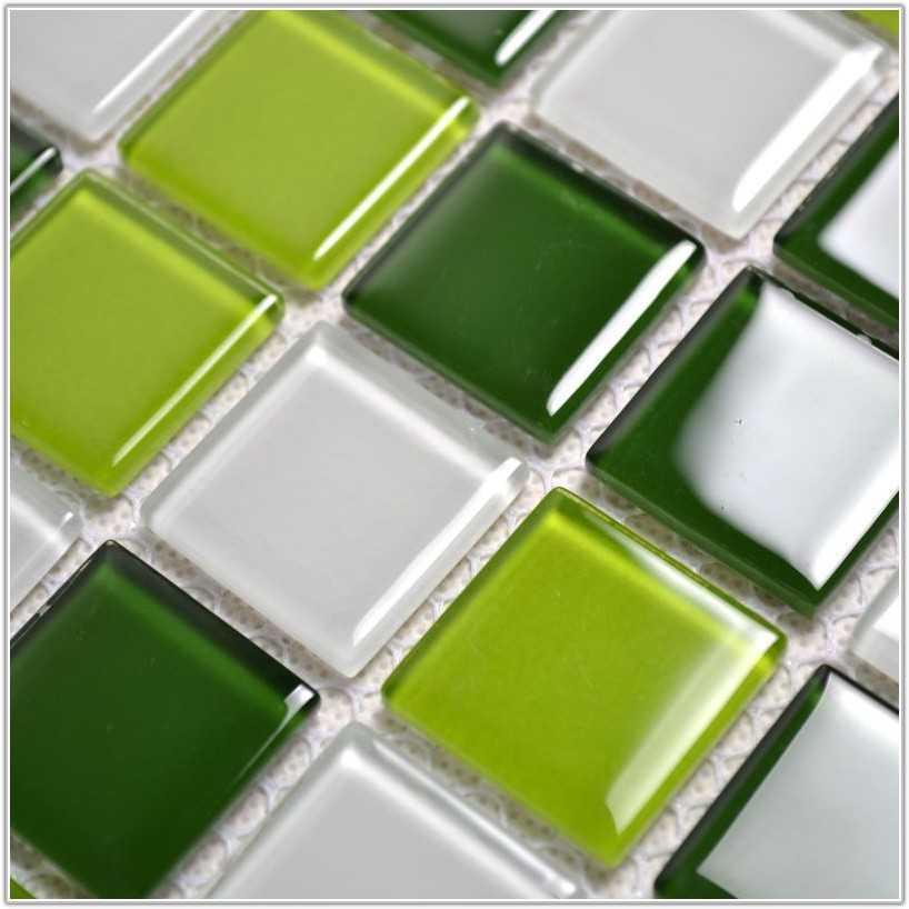 Green Glass Mosaic Wall Tiles