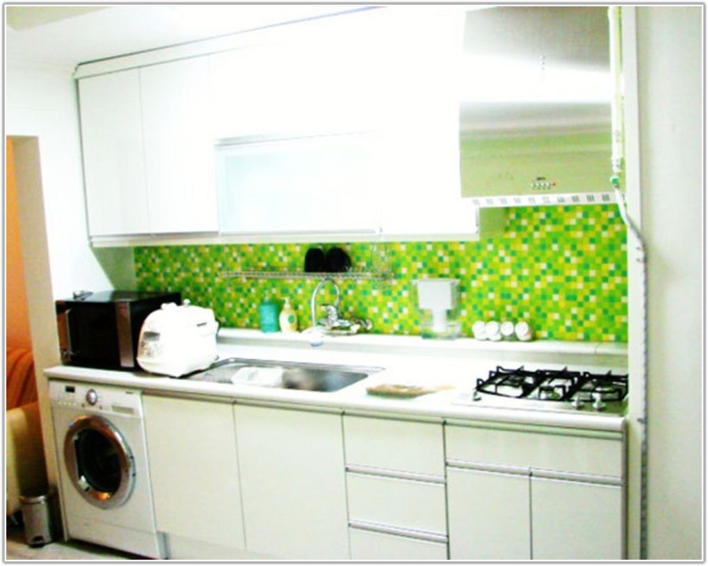 Green Tiles For The Kitchen