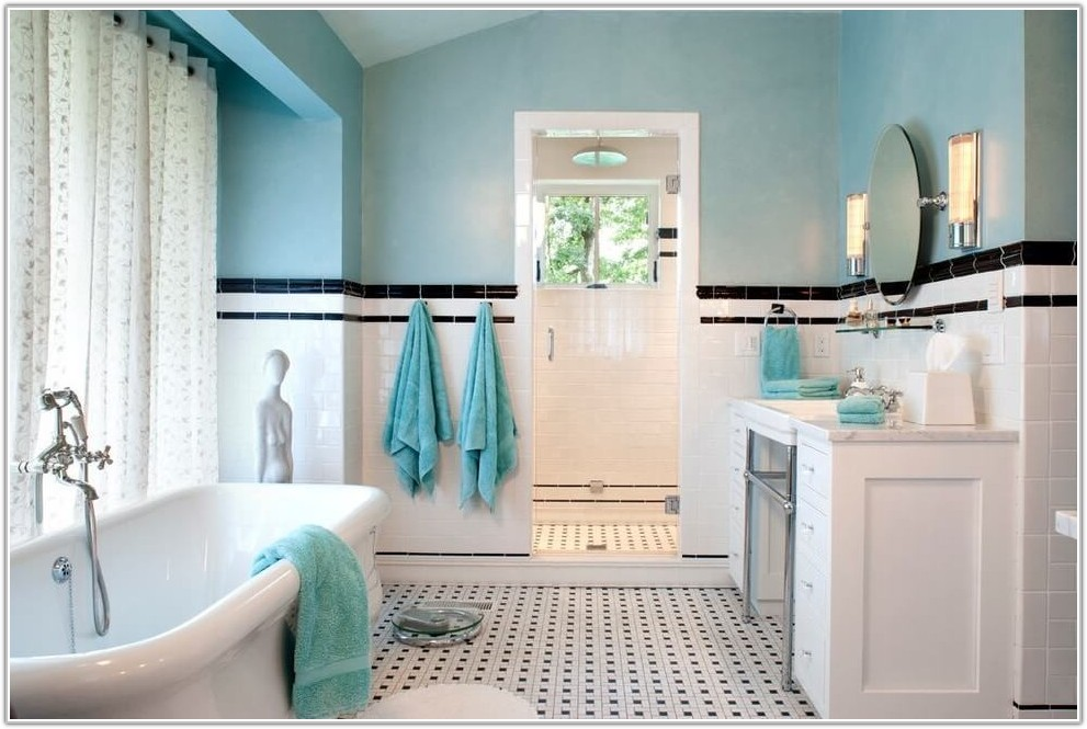 Grey And White Subway Tile Bathroom