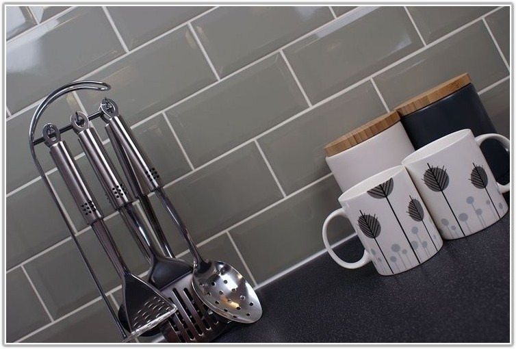 Grey Brick Kitchen Wall Tiles