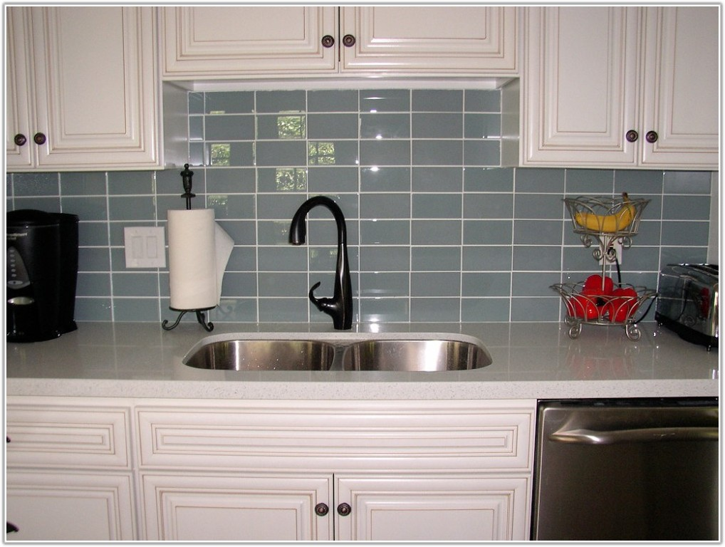 Grey Ceramic Subway Tile Backsplash