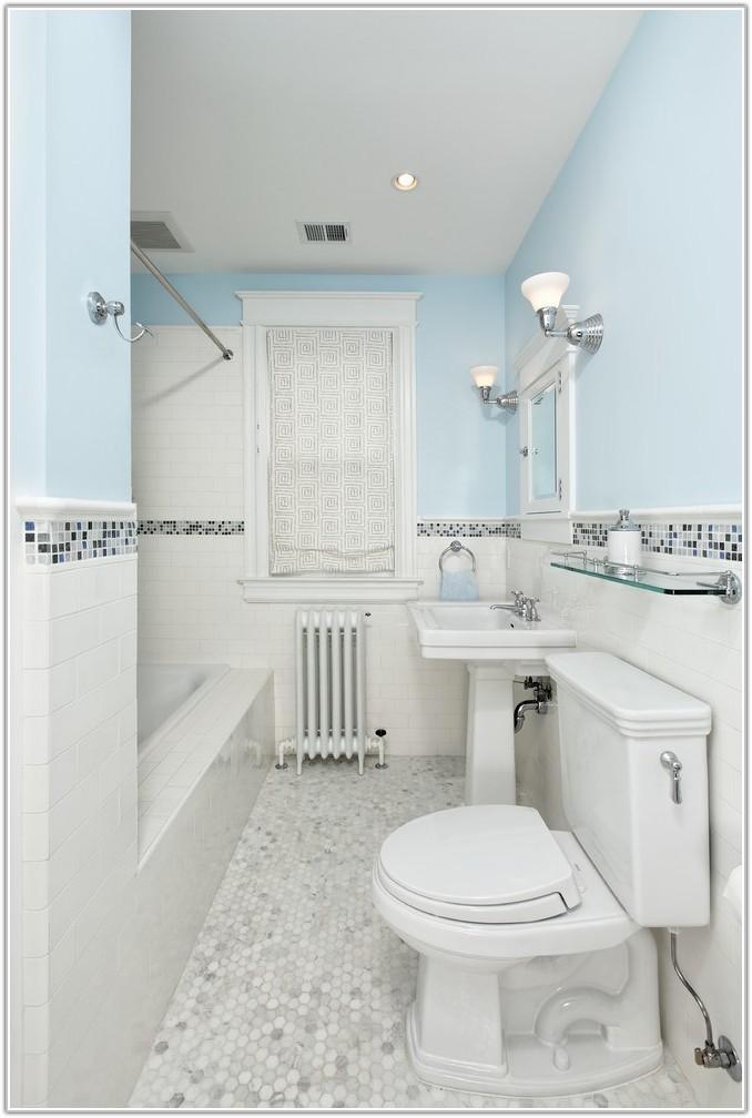 Grey Subway Tile Bathroom Floor