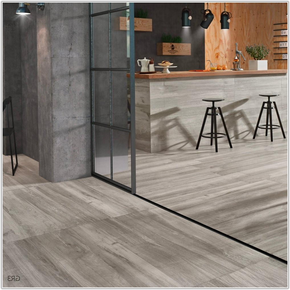 Grey Wood Effect Porcelain Floor Tiles