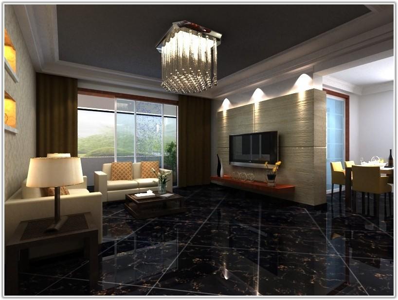 High Gloss Black Floor Tiles