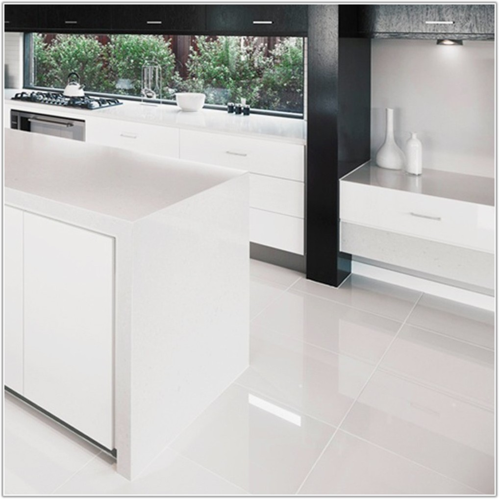 High Gloss Floor Tiles White