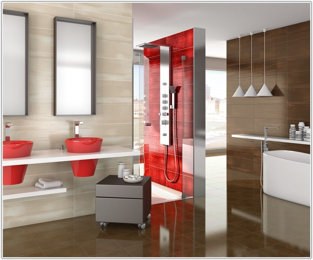 High Gloss Red Wall Tiles