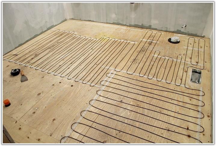 In Floor Heating Under Tile