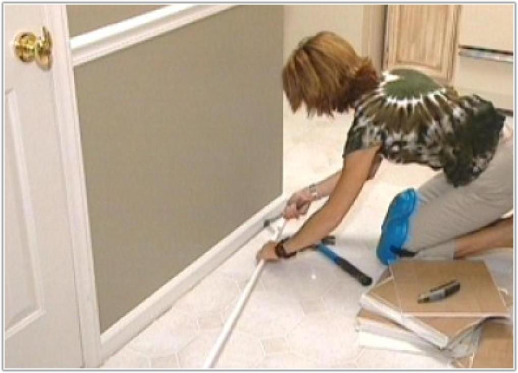 Install Self Stick Floor Tiles