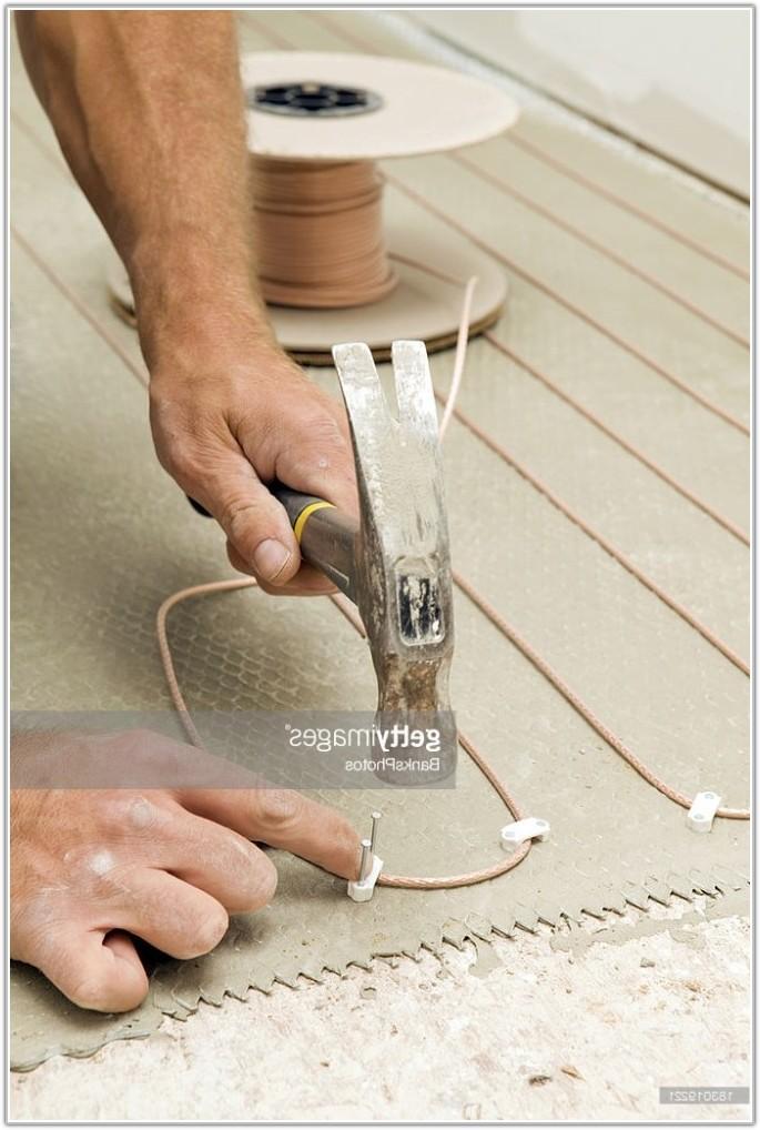 Installing Radiant Heat Tile Floor