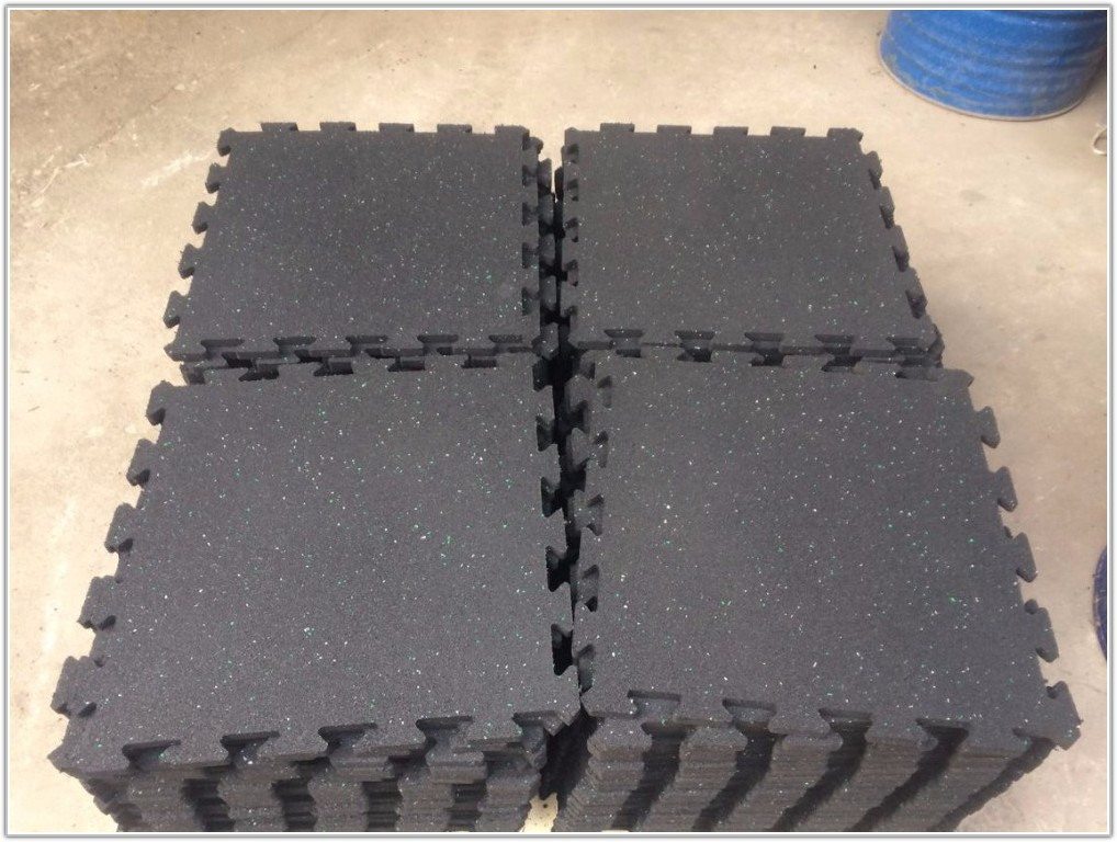 Interlocking Rubber Floor Tiles For Gym