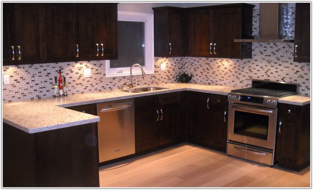 Kitchen Floor Tile Ideas With Cherry Cabinets