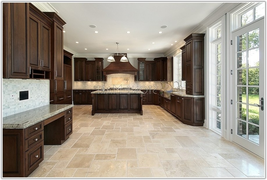 Kitchen Floor Tile Ideas With Dark Cabinets