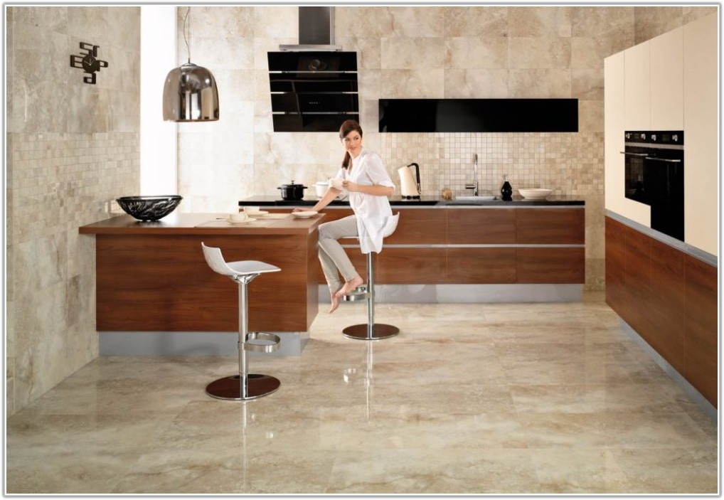 Kitchen Polished Porcelain Floor Tiles