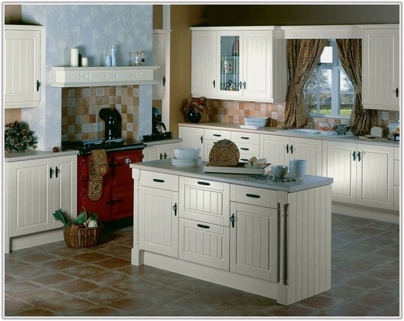 Kitchen Tile Floor Ideas With White Cabinets