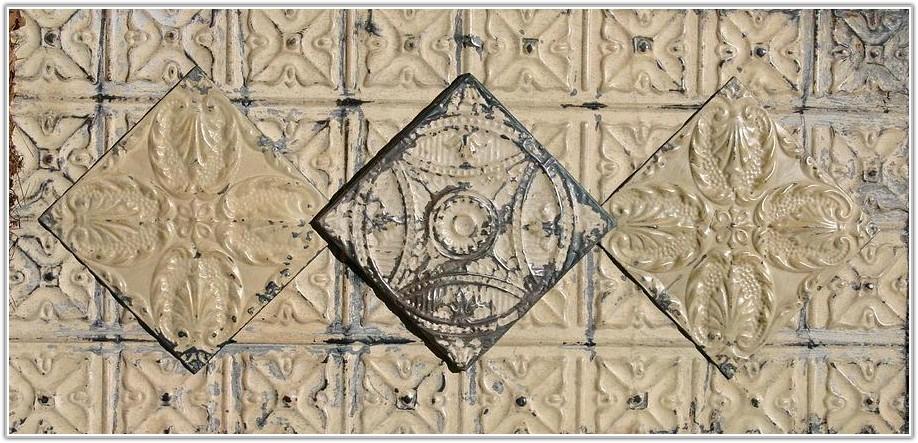 Large Antique Tin Ceiling Tiles