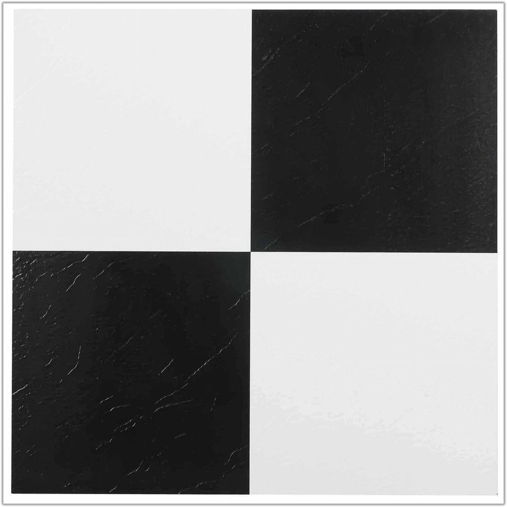 Large Black Bathroom Floor Tiles