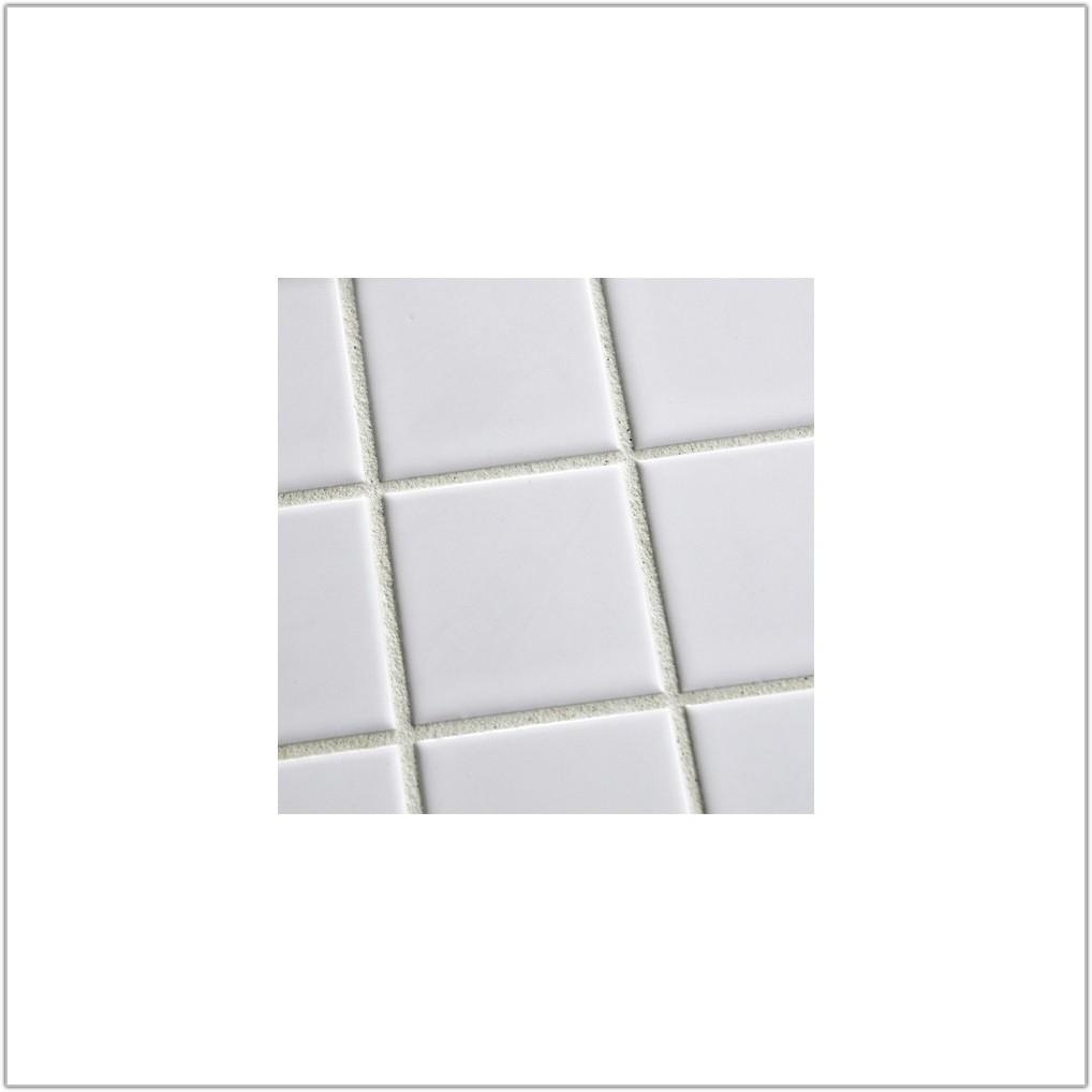 Large Square White Gloss Floor Tiles