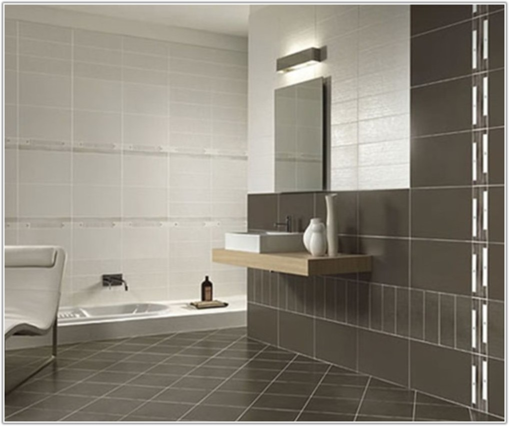 Large White Bathroom Floor Tiles