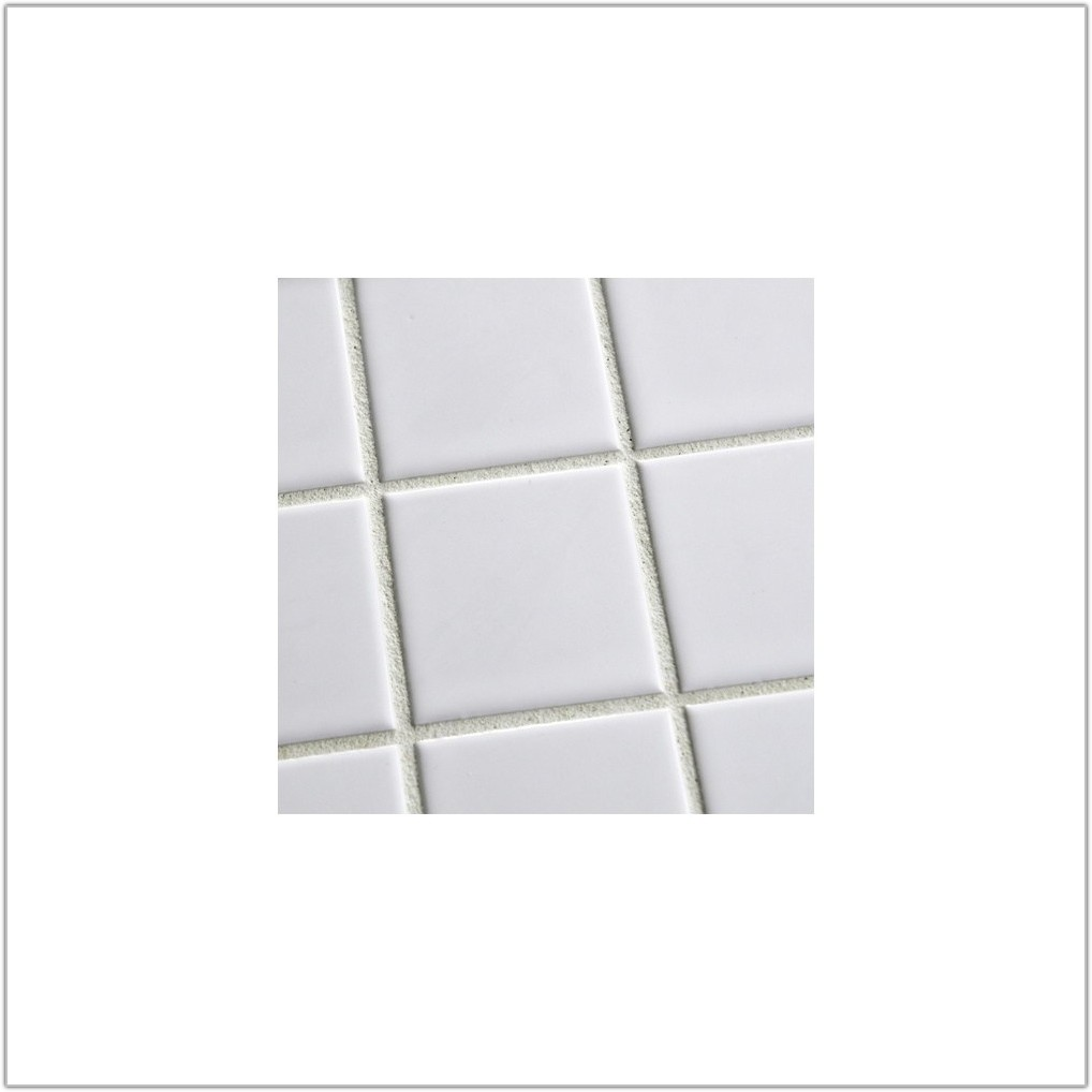 Large White Gloss Floor Tiles