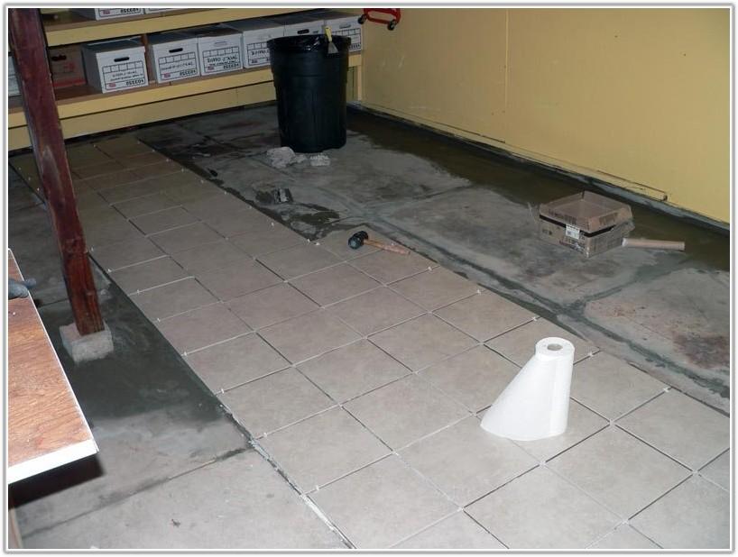 Laying Tile On Garage Floor