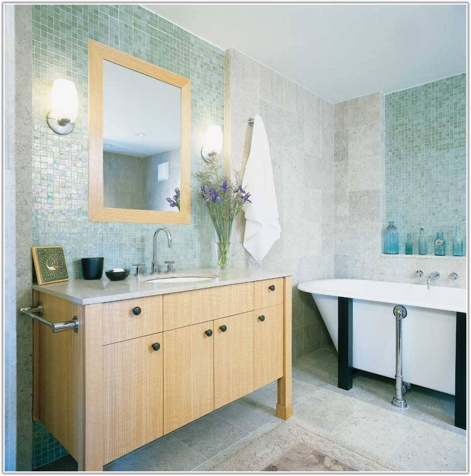 Light Blue Mosaic Bathroom Tiles