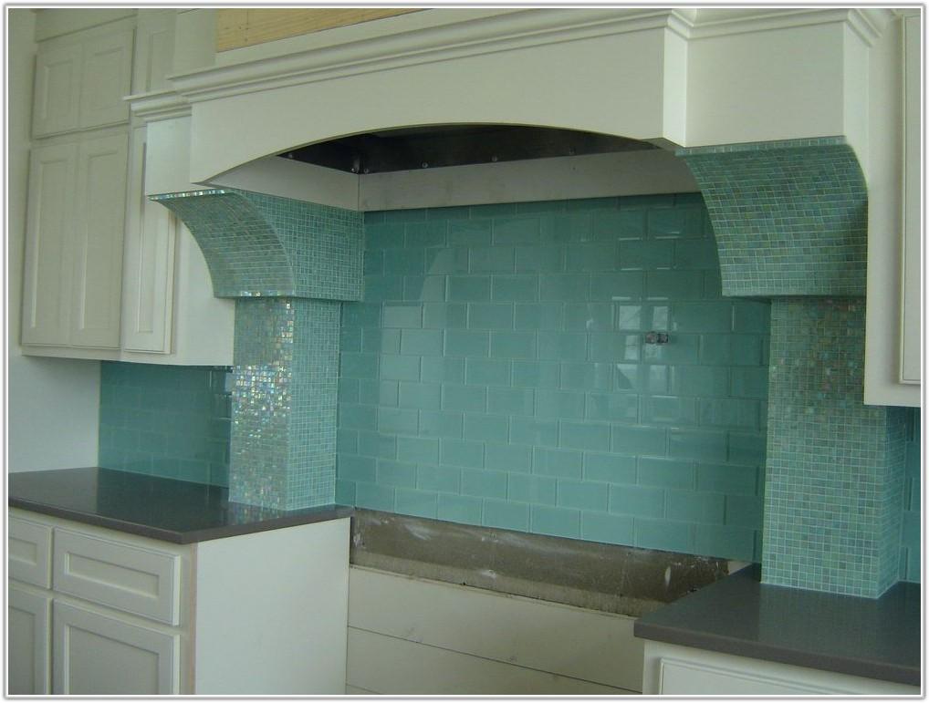 Light Green Glass Tile Backsplash