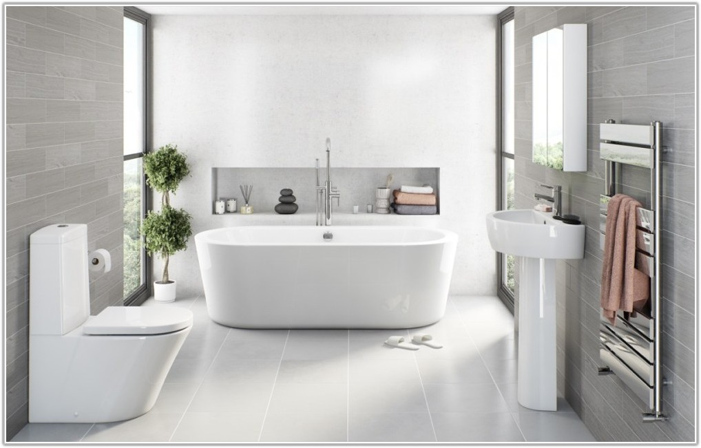 Light Grey Bathroom Tile Ideas