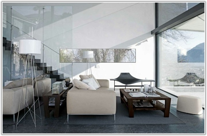 Light Grey Floor Tiles Living Room