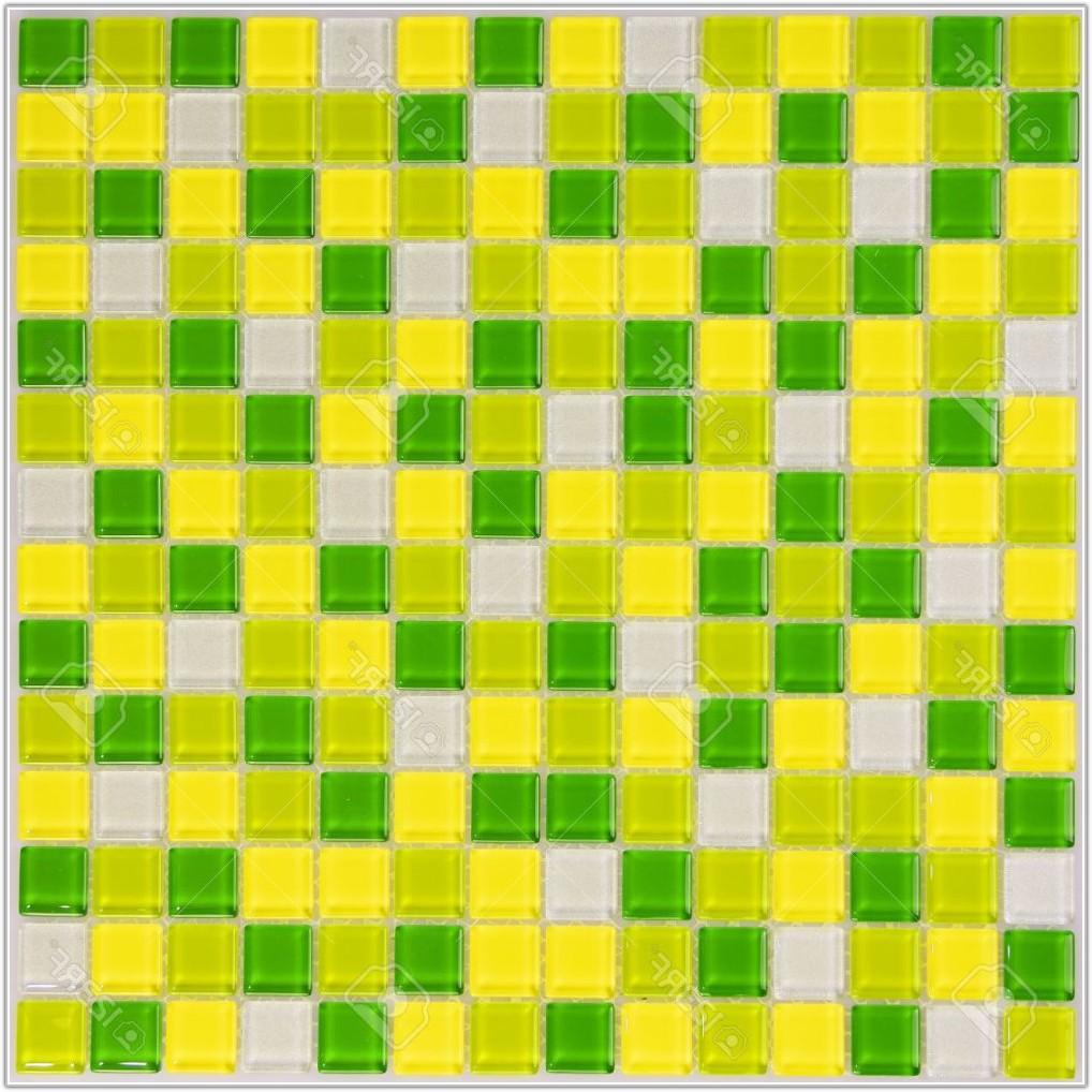 Lime Green Glass Mosaic Tiles