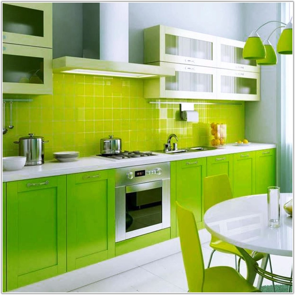 Lime Green Gloss Wall Tiles