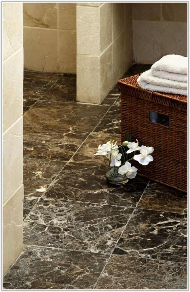 Marble Look Bathroom Floor Tiles