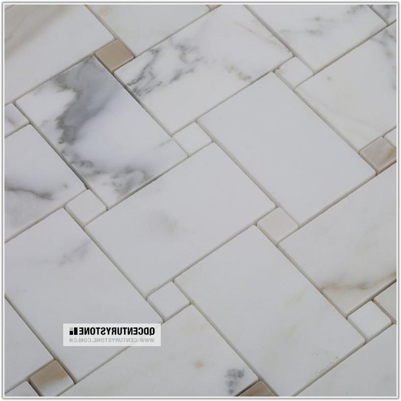 Marble Mosaic Bathroom Floor Tile