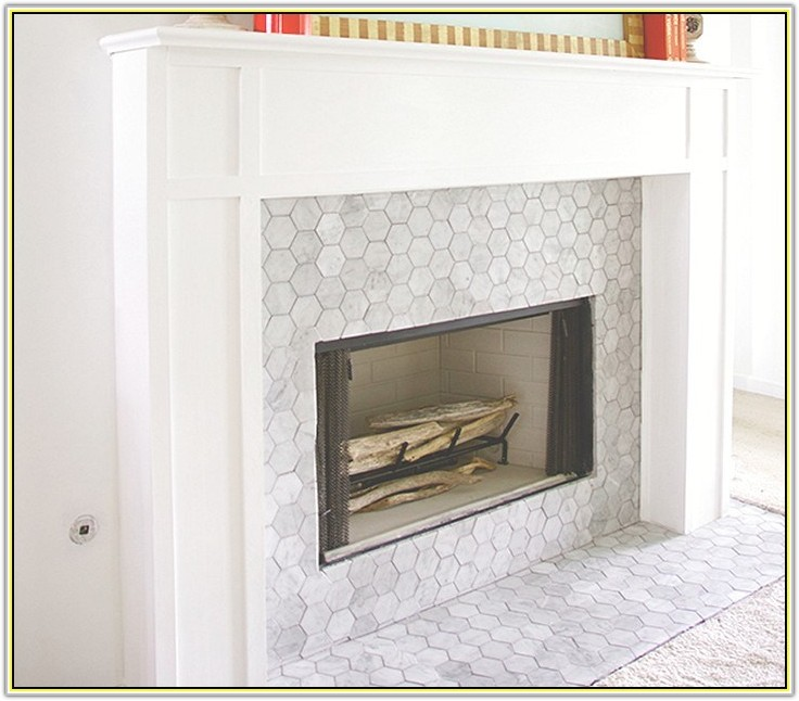 Marble Tile Fireplace Surround Ideas