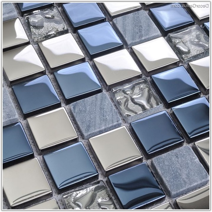 Metal And Glass Wall Tile