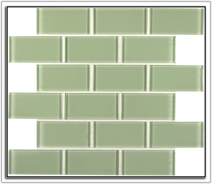 Mint Green Glass Subway Tile