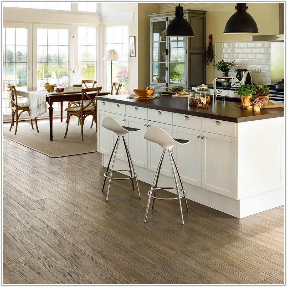 Mixed Stone Tile Effect Laminate Flooring