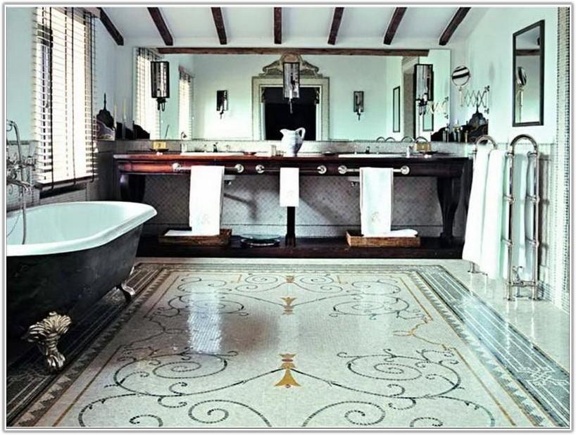 Mosaic Bathroom Floor Tile Design