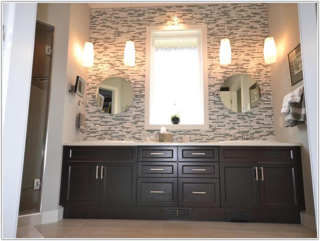 Mosaic Tile Accent Wall Bathroom