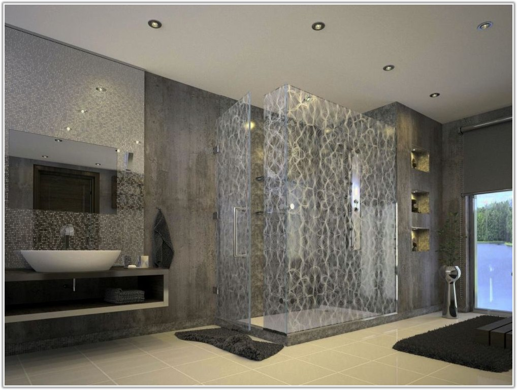 Mosaic Tile Around Bathroom Mirror