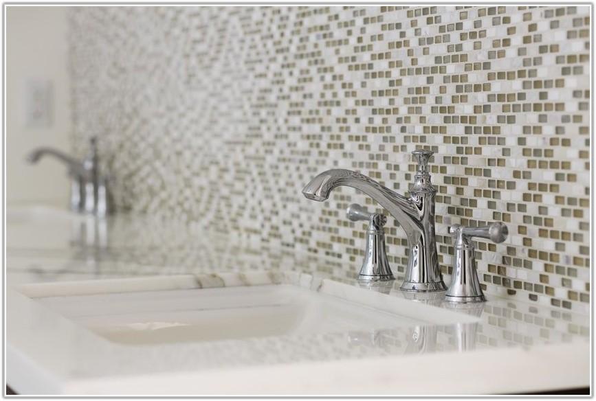 Mosaic Tile Feature Wall Bathroom