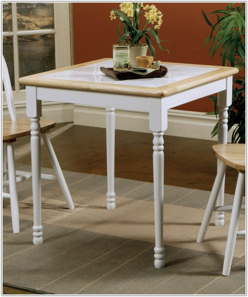 Natural White Tile Top Dining Table