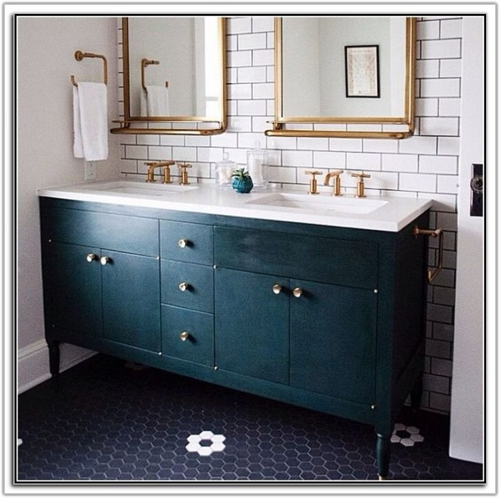 Navy Blue Bathroom Floor Tiles