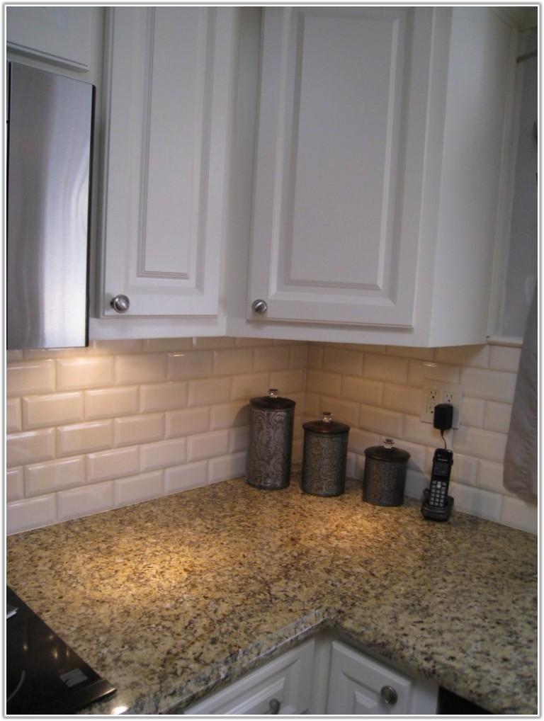 Off White Subway Tile Kitchen Backsplash