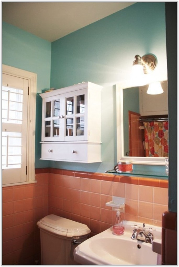 Old Pink Tile Bathroom Decorating Ideas